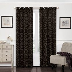 Eclipse 12427052063AUB Patricia 52-Inch by 63-Inch Blackout Grommet Single Curtain Panel, Aubergine