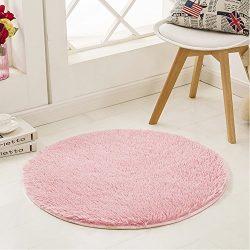 SANMU Soft Velvet Silk Rug,Simple Style Modern Shag Carpet Fashion Color Bedroom Mat for Girls H ...