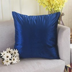 Home Brilliant Luxurious Velvet Square Solid Shiny Throw Pillow Case Fall Cushion Cover for Benc ...