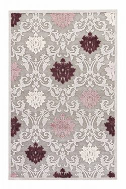Jaipur Living Glamourous Damask Gray/Silver Area Rug (5′ X 7'6″)