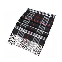 Winter Unisex Cashmere Long Scarf Fashion Warm Soft Grid Plaid Blanket Shawl Wrap