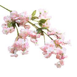 Fake Flowers,Napoo Cherry Blossom Silk Flower Bridal Hydrangea Garden Party Home Decor (B)