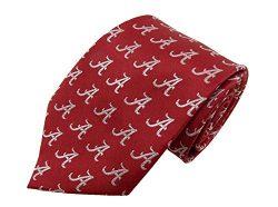 NCAA Alabama Crimson Tide Repeating Primary Necktie, One Size, Crimson