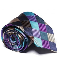 Men's Fashion Necktie 100% Silk Classic Business Woven Neck Ties 0019