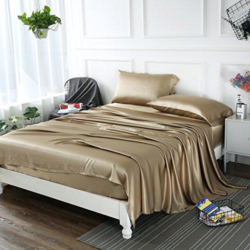 Zimasilk 4 Pcs 100 Mulberry Silk Bed Sheet Set All Side