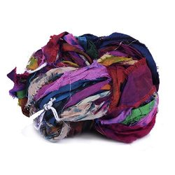 White House Silk Multi Color Tie & Dyed Premium Quality Colors Sari Silk Ribbon Yarn, Beauti ...