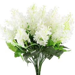 GTidea 4pcs Artificial Wisteria Bundle Fake Flowers Silk Floral Bouquet Arrangements Home Garden ...