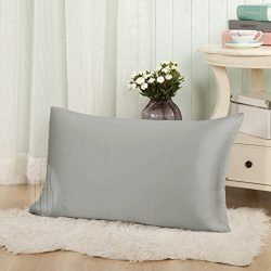 THXSILK Silk Pillowcase for Hair and Skin-Silk Pillow Cover Pillow Case-Hypoallergenic with Enve ...