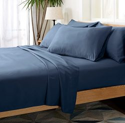 6 Piece Silky Soft Luxurious Comfortable Full Bed Sheet Set – Dark Blue Navy- by Cheer Col ...