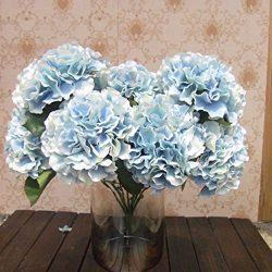AMTION Artificial Silk Fake 5 Heads Flower Bunch Bouquet Home Hotel Wedding Party Garden Floral  ...