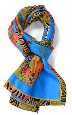 Salutto Women 100% Silk Scarf Van Gogh Monet Famous Painter Painted Scarves 22