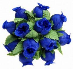 144 Poly Rose Silk Favor Flower Pick Wedding Shower – Royal BLue