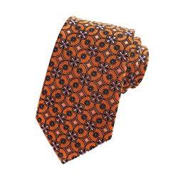 MENDENG Black Gold Striped Tie Woven Jacquard Silk Men's Suits Ties Necktie