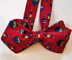 Silk Bow Tie for Men – Ornaments – One-of-a-Kind, Handmade, Self-tie, Free Shipping