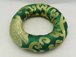 F773 Silk Brocade Ring Cushion Pillow for Tibetan Singing Bowl Hand Made in Nepal