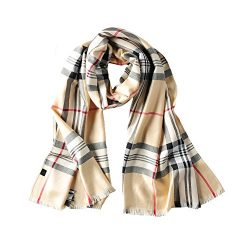 S&S Women's Grid Autumn Winter Warm Lattice Long Scarf,Silk Plaid Blanket Shawl Wrap 2 ...