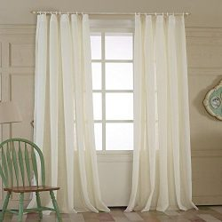50″W x 102″L (Set of 2 Panels) Multi Size Available Custom Solid Double Pleated Ener ...