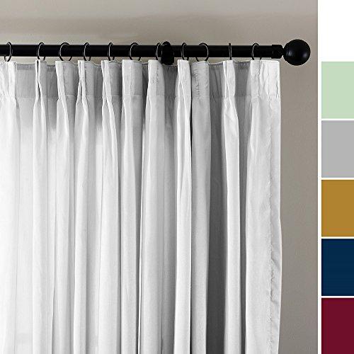 ChadMade Vintage Textured Faux Dupioni Silk Curtain Panel Pinch Pleated 100″W x 84″L ...