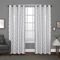 Exclusive Home Curtains Modo Grommet Top Window Curtain Panel Pair, Winter White, 54×96