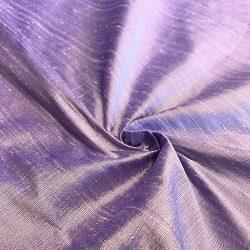 100% Pure Silk Dupioni Fabric 54″ Wide BTY Drape Blouse Dress Craft (Lilac)