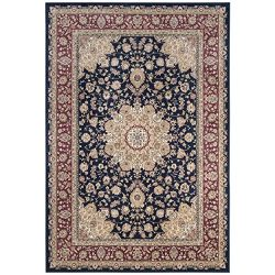 Safavieh Atlas Collection ATL668B Navy and Red Oriental Viscose Area Rug (8′ x 10′)