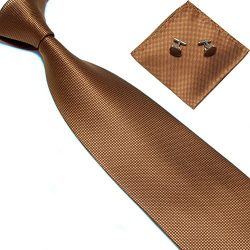 Zjzhao Fashion Woven Silk Necktie HandMade Mens Tie Cufflinks and Handkerchief Set Hanky Gift (L ...