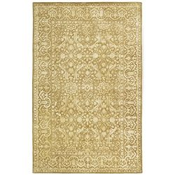 Safavieh Silk Road Collection SKR213C Handmade Ivory New Zealand Wool Area Rug (6′ x 9′)