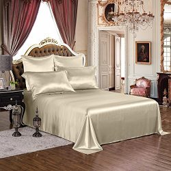 THXSILK Silk Sheet Set 4 Piece, Silk Sheets with Finest Embroidery, Luxury Bedding Sets –  ...