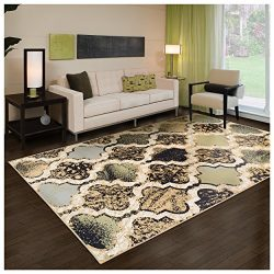 Superior Modern Viking Collection Area Rug, 8mm Pile Height with Jute Backing, Anti-Static, Wate ...