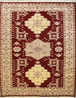 "5'8″x7'10"" Caucasian Design Area Rug with Silk & Wool Pile – G ..."