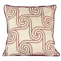 Homey Cozy Embroidery Linen Throw Pillow Cover, Merry Christmas Series Holiday Flow Luxury Soft  ...