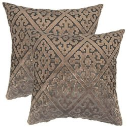 YOUR SMILE Flocking Trellis Geometric Square Decorative Throw Pillows Case Cushion Covers Shell  ...