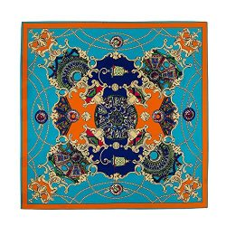 Promini Women's 100% Silk Square Scarf Fashion Pattern Large Neckerchief Headdress 40″ X 4 ...