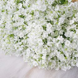 Bringsine Baby Breath/Gypsophila Wedding Decoration White Colour Silk Artificial Flowers 20 piec ...