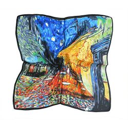 TONY & CANDICE (TM) Women's Graphic Print 100% Silk Square Scarf Neckerchief 20*20 Inc ...