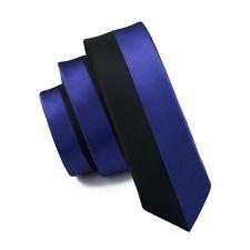 jacob alex #39886 men tie Skinny Slim tie Silk Tie narrow neck Bussiness Black Navy Blue