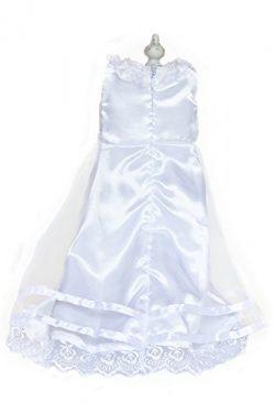 Silk Rosette Wedding Dress Doll, 18 inch
