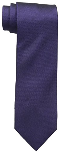 Vince Camuto Men's Isabella Solid 100% Silk Tie, Purple, One Size