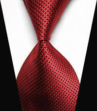 jacob alex #38588 Classic Necktie Mens Red & Yellow Striped Ties WOVEN JACQUARD Silk Men&#82 ...
