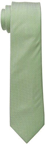 Ben Sherman Men's Core Solid 100% Silk Skinny Tie, Green, One Size