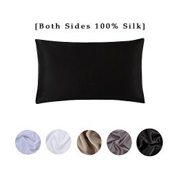 S·789 Zipper Window Silk Pillowcase,Skin -care Satin Silk Pillow Cover,Double Sides 19 Momme Nat ...