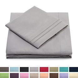 King Size Bed Sheets – Silver Luxury Sheet Set – Deep Pocket – Super Soft Hote ...