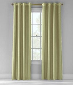 Bed Bath Outlet 2- Piece 55 by 84-Inch Faux Silk Extra Wide Grommet Panel Window Curtains Window ...