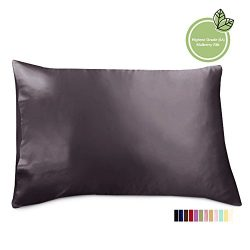 ELLESILK Silk pillowcase, Premium Quality Mulberry Silk, 100% Mulberry Silk, Anti Bed Head, Quee ...