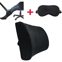Relancer Memory Foam Lumbar Support Cushion&Travel Airplane Footrest Office Desk Hammock&amp ...