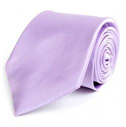 Men's Solid Lavender Silk Tie