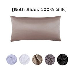 S·789 Hidden Zipper Silk Pillowcase, Health-care Pillowcase,Both Sides 19 Momme Silk,20×30  ...