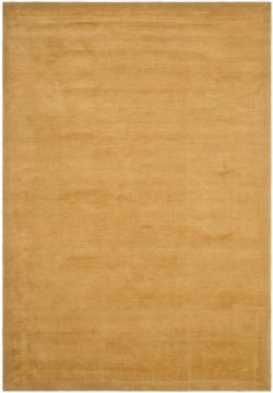 Safavieh Tibetan Collection TB212G Hand-Knotted Gold Silk & Wool Area Rug (6′ x 9′)