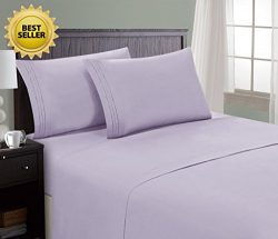 HC Collection Bed Sheet & Pillowcase Set HOTEL LUXURY 1800 Series Egyptian Quality Bedding C ...