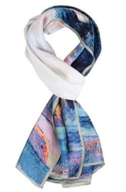 Salutto Women 100% Silk Scarves Paul Gauguin Farm In Brittany Painted Scarf (4)